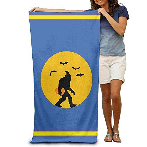 Spooky Bigfoot Halloween Adults Cotton Beach Towel 31