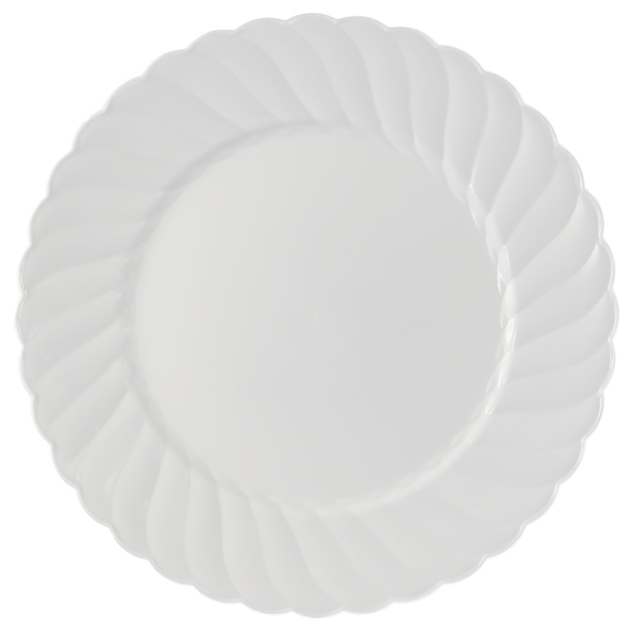 Kaya Collection - Disposable White Plastic Round 10.25'' Dinner Plates - 2 Pack (36 Plates)
