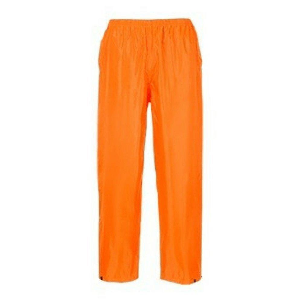 f/ür Erwachsene orange Portwest Klassische Regenhose 3 XL klassischer Schnitt