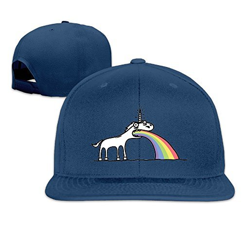Allens Boots Austin (Custom Unisex Rainbow Unicorn Snapback Baseball Hats Caps Navy)