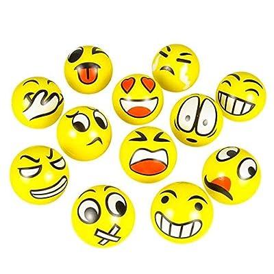 Rhode Island Novelty Emoticon Stress Balls, One Dozen: Toys & Games