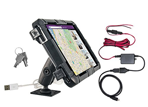 Tablet Lock Box Bundle for E-Log for Samsung Galaxy Tab E 8.0 with 4-Hole AMPS Drill Base by ARKON