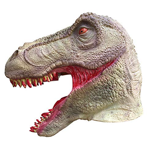 WeiYun Bloody Dinosaur Latex Mask, Toothy Horror Ghost Devil Evil Face Mask,Ugly Mask Cosplay Costume Party Props Party Favors for Halloween , Melting Face Latex Scary Mask,1 Pcs -