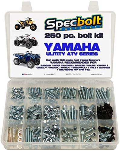 Specbolt Fasteners Bolt Kit Yamaha - Badger Tri-Z Champ Big bear Warrior Kodiak Wolverine Grizzly Bear tracker Bruin Rhino Breeze Timberwolf 4-Zinger YF YFM YTZ 1984 & Up model ATVs: pro plus pack (L)