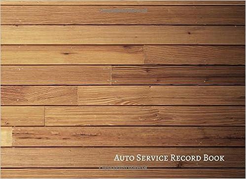 amazon auto service record book vehicle maintenance log