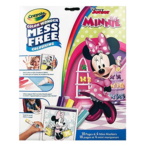 Crayola Color Wonder Mess Free Colouring Minnie Mouse - 18 Pages and 4 Mini ()
