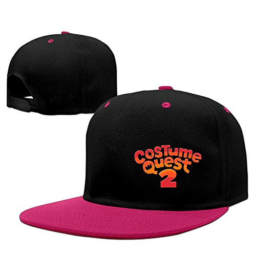 Costume Quest 2 Logo Unisex 100% Cotton Pink Adjustable Snapback Baseball Caps One Size