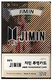 Kpop BTS Bangtan Boys Jimin Photo Transparent Cards 25 Pieces