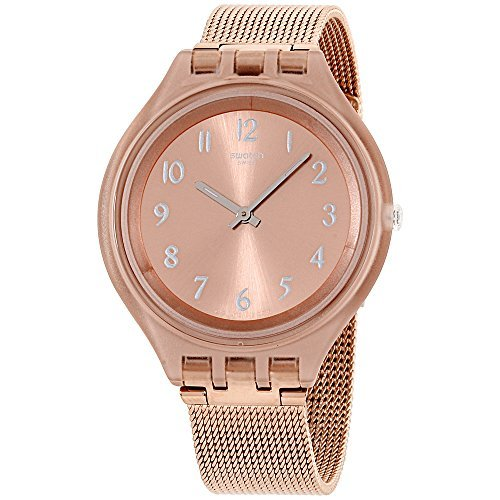 Swatch Skin Skinchic Pink Dial Stainless Steel Ladies Watch - Dial Ladies Steel Stainless Pink