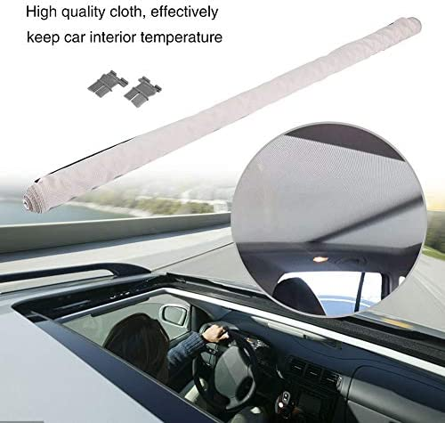 Kimiss Sonnenschutz Vorhänge Skylight Shutter Schiebedach Sonnenschutzvorhang Auto Skylight Shutter Beige Auto