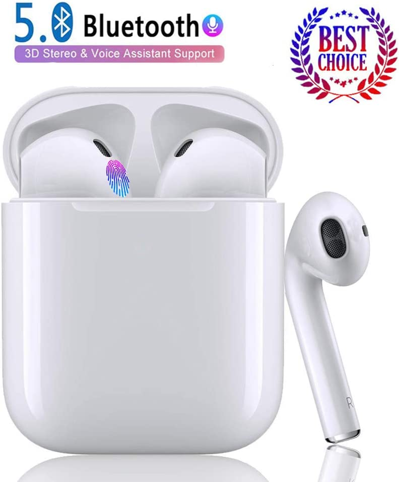 Bluetooth Wireless Earbuds,TWS Wireless Earbud Headphones with Charging Case,3D Stereo Sound in-Ear Headsets Sports Running Headphones Compatible for airpods Android iPhone