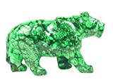 Hand Carved Zaire Africa Malachite Lioness Puma Cougar Leopard Lapidary 118mm X 30mm X 71mm Tall Carving