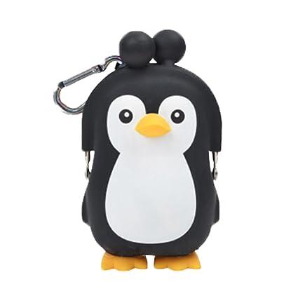 3d Pochi amigos pingüino silicona Monedero: Amazon.es ...