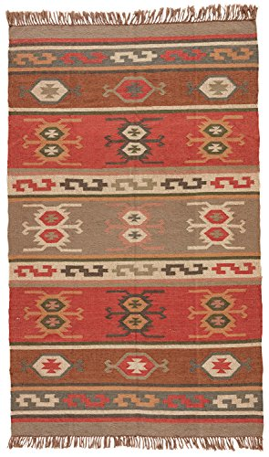 Jaipur Living Thebes Reversible Flatweave Tribal Red Area Rug (2' X 3')