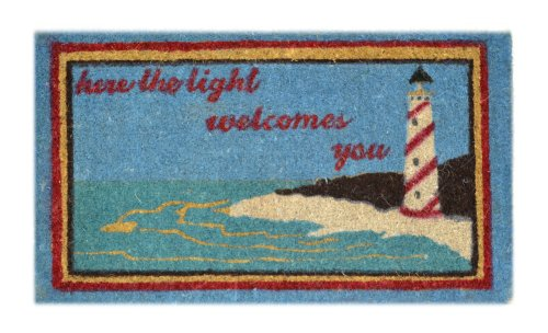 Imports-Decor-Decorated-Coir-Doormat-Lighthouse-Scene-18-Inch-by-30-Inch