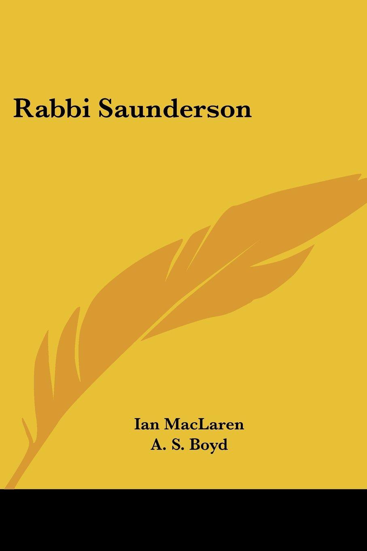 Rabbi Saunderson pdf epub