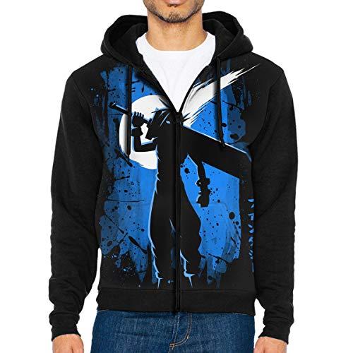 MG5dYkdi56 Full-Zip Men's Hooded Sweatshirt Fantasy Stain Hoodie Sweaters Pullover Hoody Fashion Jacket for Men and Women Black