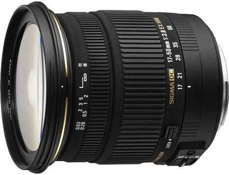 para c/ámaras Digitales SLR de Canon con sensores APS-C Objetivo 17-50 mm f//2,8 EX DC OS HSM Color Negro Rosca para Filtro de 77 mm Sigma