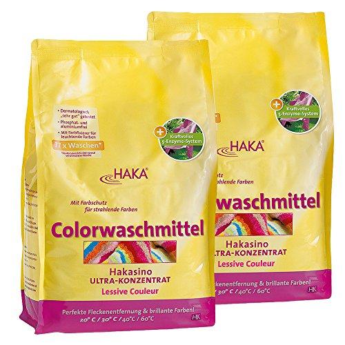 HAKA Colorwaschmittel Hakasino, 2 x 3-kg-Beutel, direkt vom Hersteller