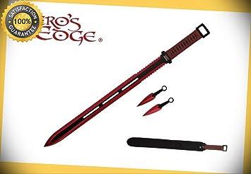 28 Full Tang Ninja Machete Sword with 2 Two Knives & Nylon ...
