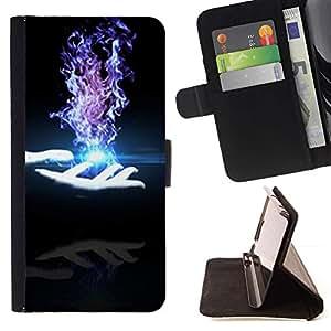 Momo Phone Case / Flip Funda de Cuero Case Cover - Magia de ilusión Mano Oscura - Samsung Galaxy S6 Active G890A