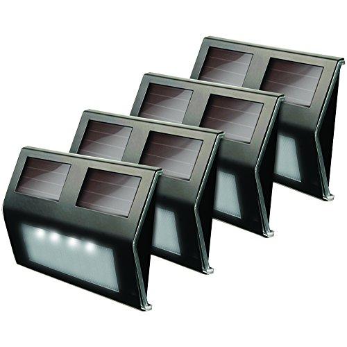 MAXSA(R) INNOVATIONS 47334-BZ Solar LED Deck Light, 4 pk (Bronze Finish), new by MAXSA(R) INNOVATIONS