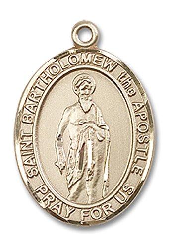 (14 Karat Gold Saint Bartholomew the Apostle Medal Pendant, 1 Inch)