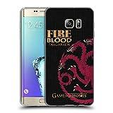 Official HBO Game Of Thrones Targaryen House Mottos Soft Gel Case for Samsung Galaxy S6 edge+ / Plus