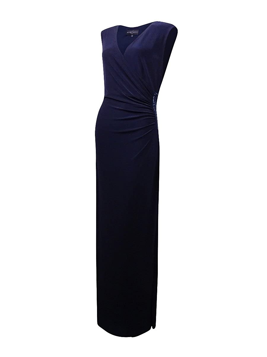 bab0a7bfaa214 Amazon.com: Betsy & Adam Womens Embellished Prom Evening Dress Navy 4:  Clothing