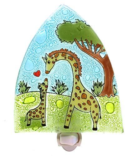 Baby Giraffe Night Light - Fair Trade Recycled Glass Art