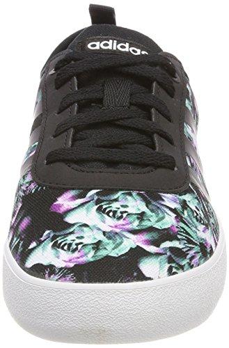 adidas QT Vulc 2.0 W, Zapatillas de Deporte Para Mujer, Negro (Negbas/Negbas/Ftwbla 000), 36 EU