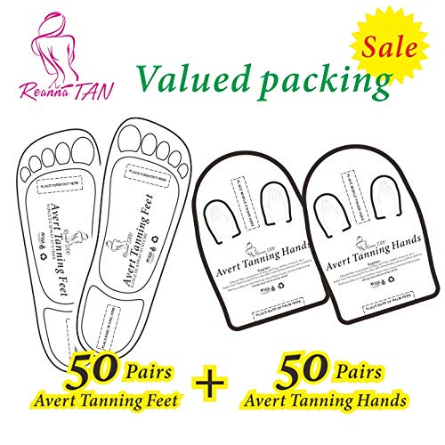 Valued packing 50+50 Pairs (Black 50+Hands 50) Spray Tanning Feet(Hands) Stick Pads; Avert Tanning Feet;Avert Tanning Hands