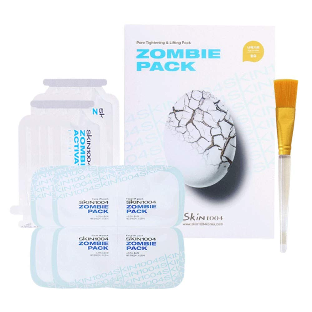 SKIN1004 Zombie Pack - Wash off Face Mask for Aging Skin, Fine Lines Wrinkles, Enlarged Pores, Dryness, Lifting and Hydrating (1 Box (8 masks)) by SKIN1004