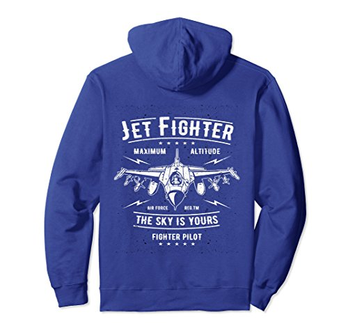Fighter Pilot Watch - Unisex Jet Fighter Pilot Locked and Loaded Pullover Hoodie Medium Royal Blue