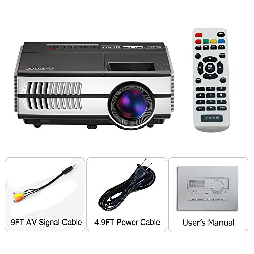 Wireless Mini Projector LED LCD- 1500 Lumens 1080P Multimedia for Home Theater Cinema Movie Video Games Outdoor Party including Built-in Speaker, Keystone, HDMI, USB, VGA, 3.5mm Audio jack, Remote by EUG (Image #7)