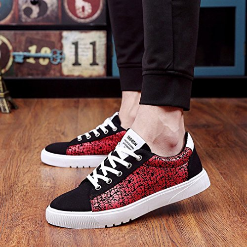 Sneaker Marche Mode QinMM Loisirs Basses Homme de Chaussures Léger Chaussures Course irréguliere Rouge Baskets de Motif Tourisme 88H1vqwr