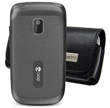 f8ee232dabc56 Original MTT Étui horizontal pour Doro 2404 Étui horizontal en cuir pour  Téléphone Portable avec clip