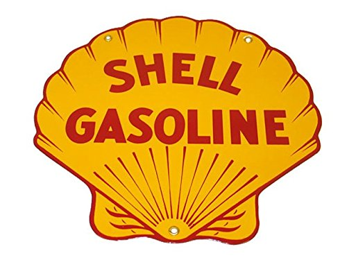 Corvette Decor: Shell Gas Porcelain Sign (Shell Gas Sign compare prices)