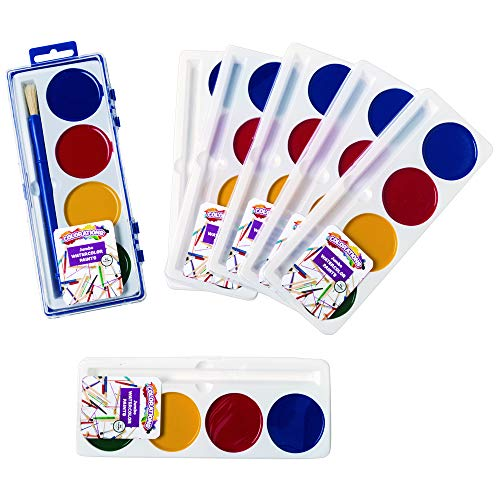 Colorations JWC 4 Jumbo Best Value Washable Watercolors