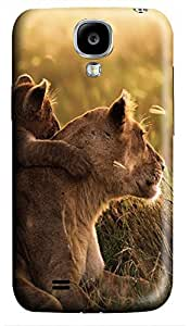 make Samsung S4 cases African Lion Family 3D cover custom Samsung S4