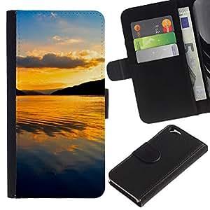 KingStore / Leather Etui en cuir / Apple Iphone 6 / Tropical Summer Mar Tropical Island