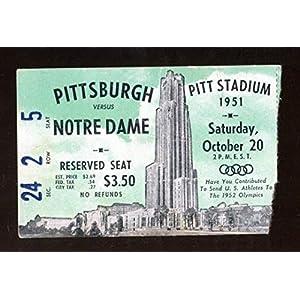 1951 Notre Dame v Pitt Panthers Football Ticket 10/20 Pitt Stadium 43401