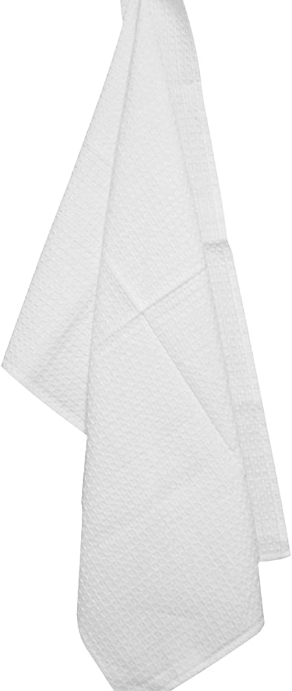 Aprons Machine Embroidery 100/% Cotton Sewing Linens Black Waffle Weave Tea Towel by Dunroven House