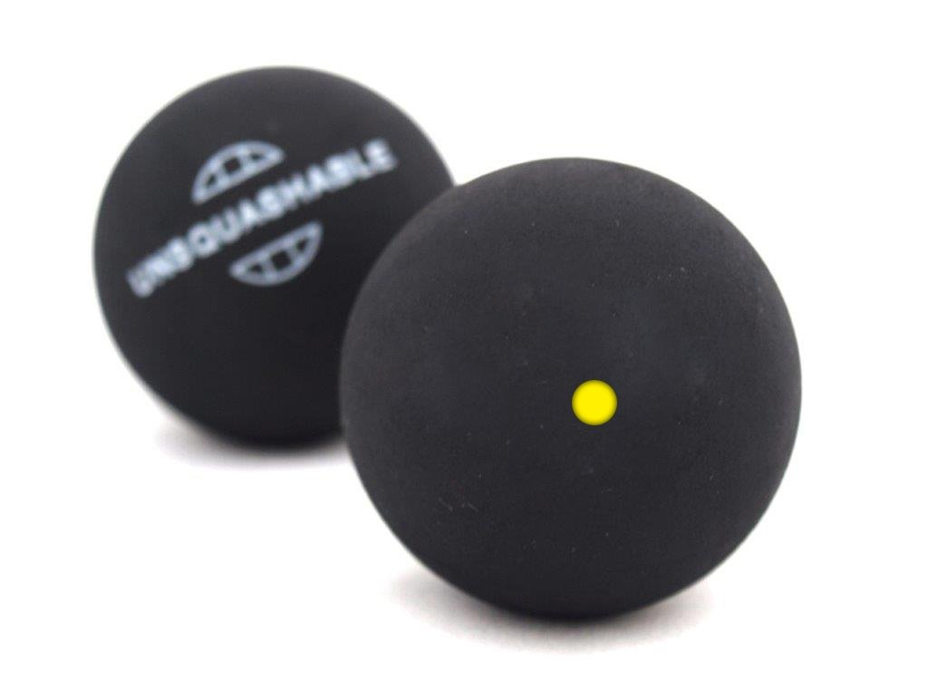 Unsquashable - Juego de 2 pelotas de squash azul azul Talla:talla única 382211