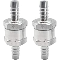 ZET 6mm 1//4 Non Return One Way Check Valve for Fuel Oil Petrol Diesel Water Aluminium Pack of 3