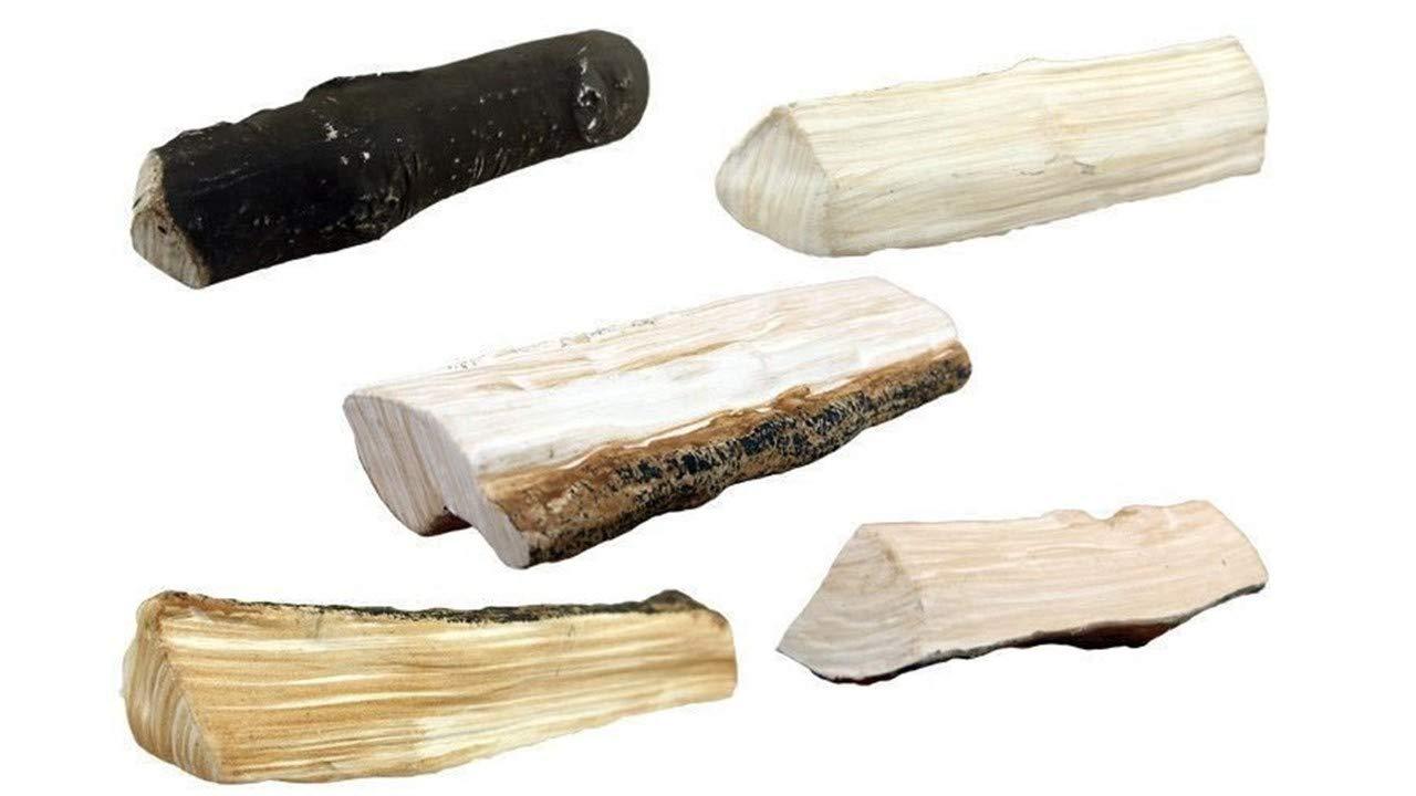 5 piezas FYRECERAMICS accesorios de chimenea de bioetanol troncos decorativos de madera decoraci/ón cer/ámica fuego piedras decorativas Mix 2