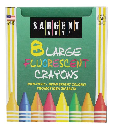(Sargent Art 22-0551 8-Large Crayons, Tuck Box and Fluorescent)