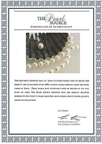 18K or japonais Akoya Blanc 6,5-7mm-Bracelet Femme-perle de culture de qualité AA +