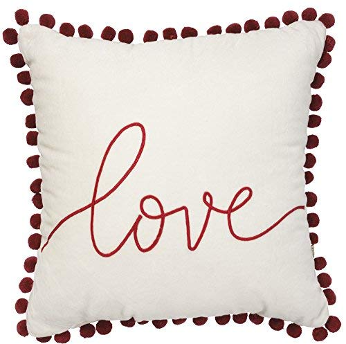 Primitives by Kathy Velvet Pillow Love [並行輸入品] B07RDXBK74