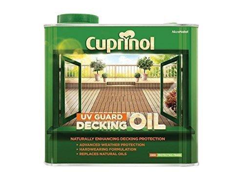 New 2016 Cuprinol UV Guard Decking Oil Natural 2.5L by Cuprinol (Cuprinol Natural)